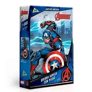 Os Vingadores - Capitão América - Quebra-Cabeça 200 Peças