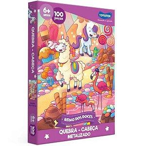 Quebra-Cabeça - 100 Peças - Reino de Doces - Toyster