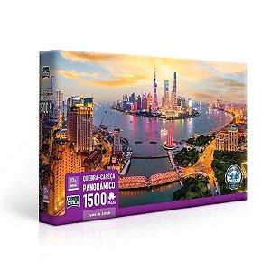 Quebra Cabeça Puzzle 1500 Peças Luzes de Xangai