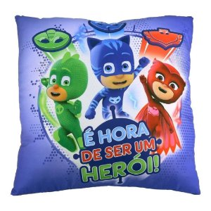 Almofada Divertida Super Macia Pj Masks Colorida Dtc