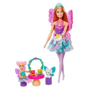 Boneca Barbie Dreamtopia Pets Festa Do Chá - Mattel