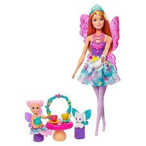 Boneca Barbie Dreamtopia Pets Festa Do Chá - Mattel