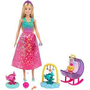 Barbie Dreamtopia Dia de Pets - Babá de Dragões Bebês  - Mattel