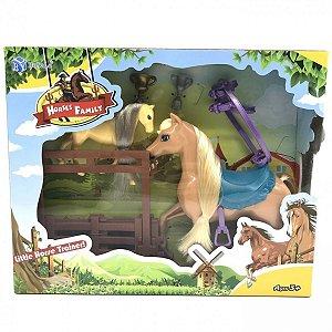 Horses Family Conjunto Animal Com Acessórios