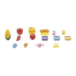 Kit Frutinhas Com Velcro Pica Pau