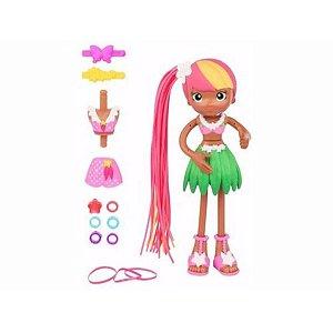 Boneca Betty Spaghetty com Acessórios Zoey Hula Candide