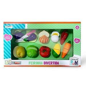 Feirinha Divertida kit Legumes Com Velcro