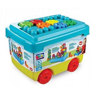 Brinquedo Infantil Bloco De Montar Estrelas Magicas 53 Peças
