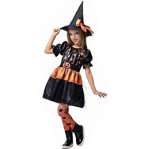 Fantasia Halloween Bruxinha Sabrina - Fantasia Super