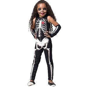 Fantasia Halloween Infantil Esqueleta
