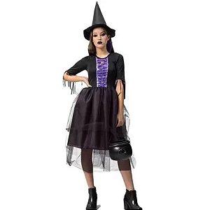 Fantasia Halloween Adulto Bruxa Emily