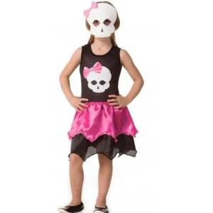 Fantasia Halloween Infantil Caveirinha