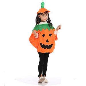 Fantasia Abóbora Halloween Infantil
