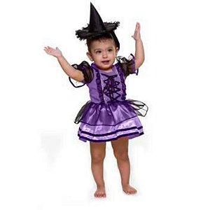 Fantasia Halloween Infantil Vestido Baby Bruxinha