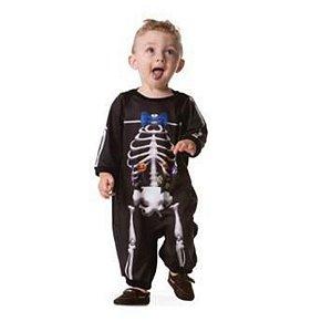 Fantasia Halloween Macacão Baby Esqueletinho