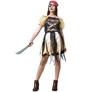 Fantasia Adulto Menina Pirata