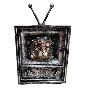 Decoração TV Caveira Halloween Com Som