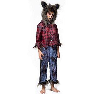 Fantasia Halloween Infantil Lobisomem - Fantasia Super