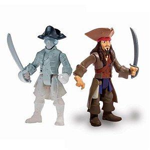 Figura Articulada Piratas Do Caribe - Jack Sparrow E Ghost Crewman - Sunny