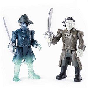 Figura Articulada Piratas Do Caribe - Captain Salazar E Ghost Crewman - Sunny
