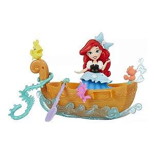 Boneca Mini Princesa Disney - Barquinho Dos Sonhos Da Ariel - Hasbro