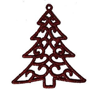 Enfeite Natal Árvore Glitter