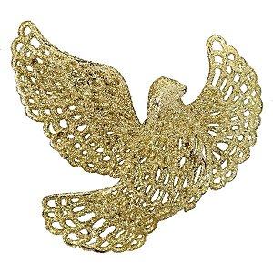 Enfeite Natal Pássaro Glitter