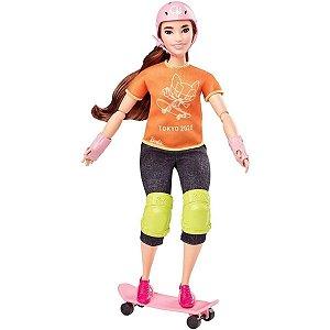 Barbie Esportista Olímpica Skatista - Mattel