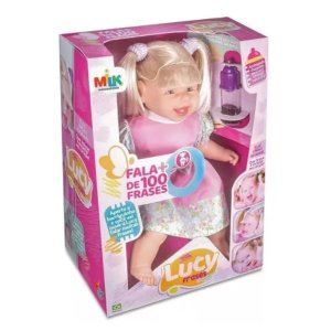 Boneca Lucy Fala + De 100 Frases Com Chuquinha