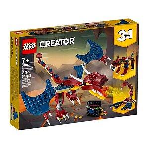 Lego Creator Dragão De Fogo