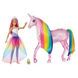 Barbie Dreamtopia - Unicórnio de Luzes Mágicas - Mattel