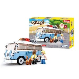 Blocos De Montar Retrô Minivan 227 Peças - Xalingo