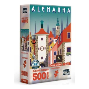 Quebra-cabeça Nano 500p Postais Europa Alemanha Game Office