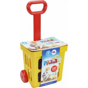 Mini Carrinho de Praia Infantil Regulagem Puxador Acessórios - Paki Toys