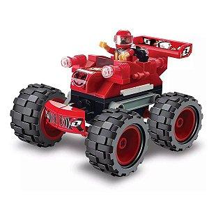Blocos De Encaixe Monster Truck Vermelho Peças - Xalingo
