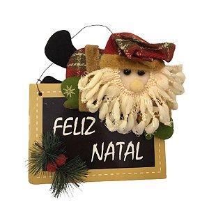 Enfeite de Porta para Natal Papai Noel Feliz Natal