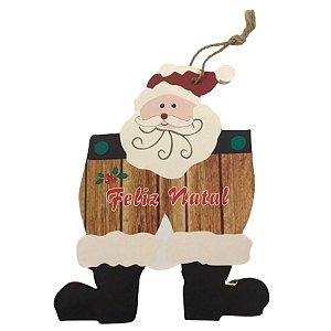 Enfeite de Porta para Natal Papai Noel Feliz Natal 18 cm