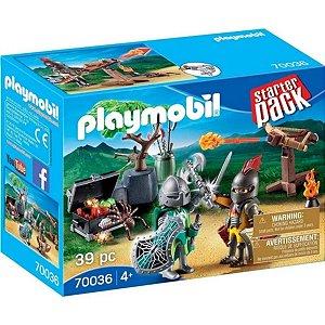 Playmobil Starter Pack Batalha Do Cavaleiro Do Tesouro 70036