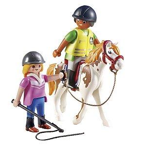 Playmobil Country Cavalo Com Professor De Equitação 9258
