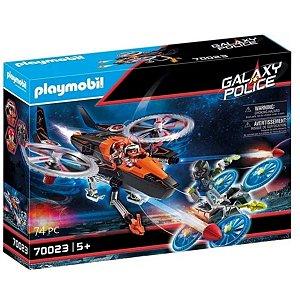 Playmobil Galaxy Police Piratas Galácticos com Helicóptero 70023
