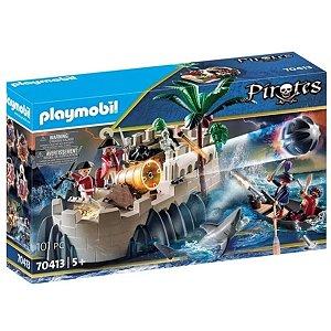 Playmobil Linha Pirates- Bastião De Casaco Vermelho 70413
