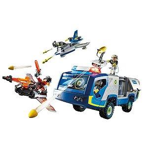 Playmobil Polícia Galáctica Com Caminhão 70018