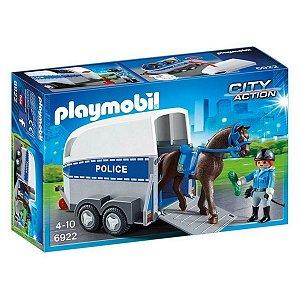 Playmobil Cidade Polícia Com Trailer P/ Cavalo - Sunny
