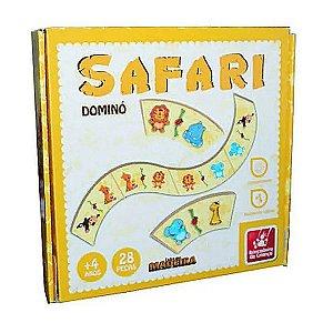 Jogo Dominó Safari 28 Peças em Madeira - Brincadeira de Criança