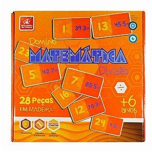 Jogo Dominó Madeira Matemática  - Brincadeira De Crianca