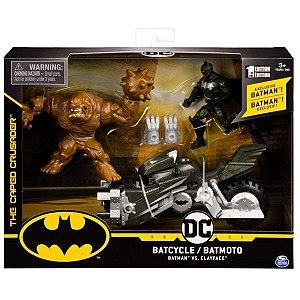 Veículo Batciclo E Batman Vs Cara De Barro - Sunny Comics