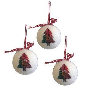 Kit Com 3 Bolas Decoradas Sortidas 10cm