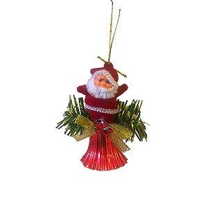 Enfeite Papai Noel com Sino 10cm