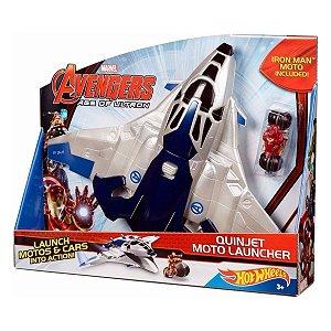 Avengers Quinjet Moto Lançador - Hot Wheels - Mattel