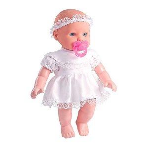 Boneca Com Som Bebê Reza O Pai Nosso - Milk Brinquedos
